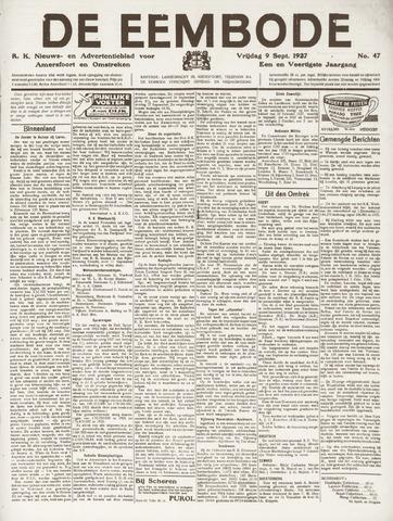 De Eembode 1927-09-09
