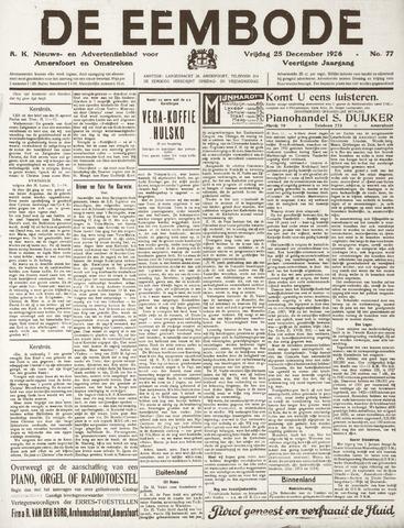 De Eembode 1926-12-25