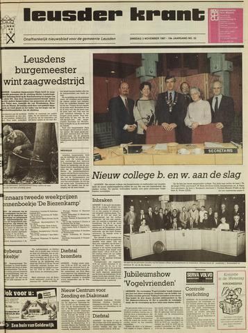 Leusder Krant 1987-11-03