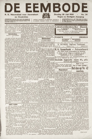 De Eembode 1925-07-28