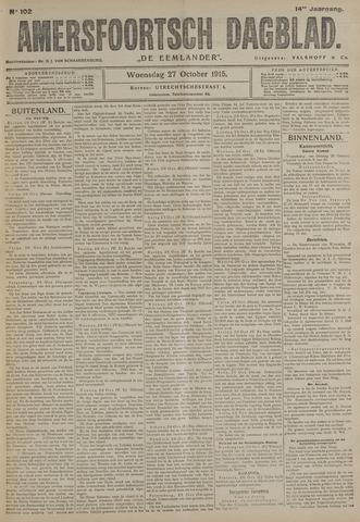 Amersfoortsch Dagblad / De Eemlander 1915-10-27