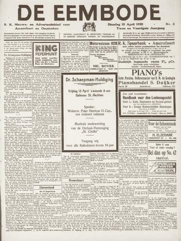De Eembode 1928-04-10