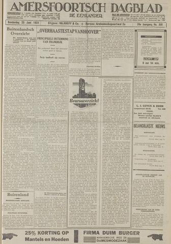 Amersfoortsch Dagblad / De Eemlander 1931-06-25