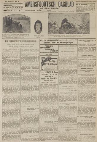 Amersfoortsch Dagblad / De Eemlander 1927-09-15