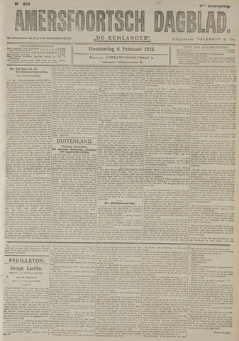 Amersfoortsch Dagblad / De Eemlander 1913-02-06