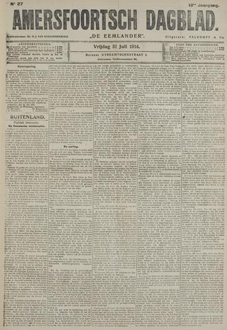 Amersfoortsch Dagblad / De Eemlander 1914-07-31