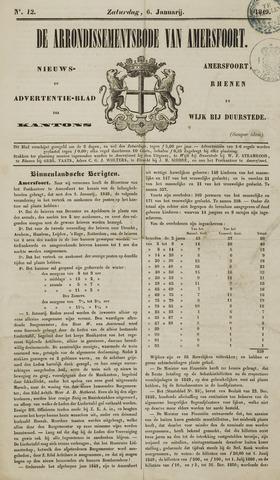 Arrondissementsbode van Amersfoort 1849-01-06