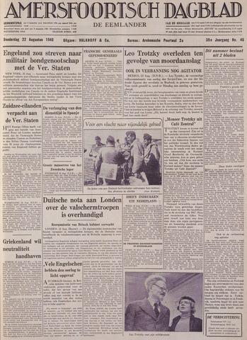 Amersfoortsch Dagblad / De Eemlander 1940-08-22