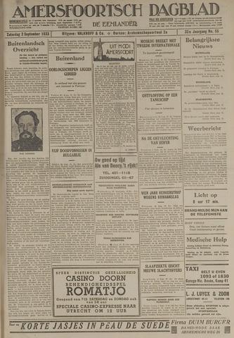 Amersfoortsch Dagblad / De Eemlander 1933-09-02