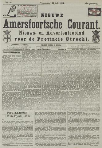 Nieuwe Amersfoortsche Courant 1914-07-15