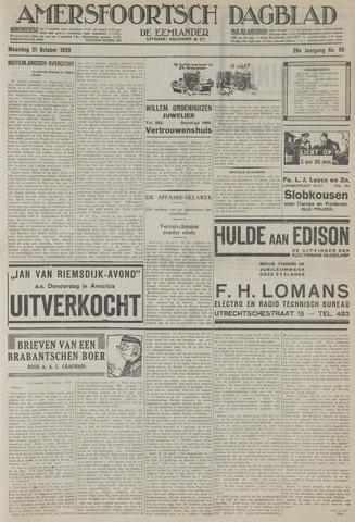 Amersfoortsch Dagblad / De Eemlander 1929-10-21