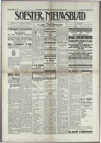 Soester Courant 1924-08-09
