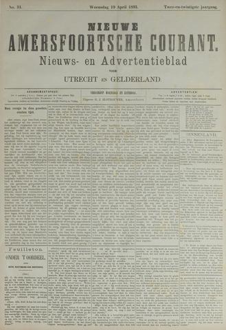 Nieuwe Amersfoortsche Courant 1893-04-19