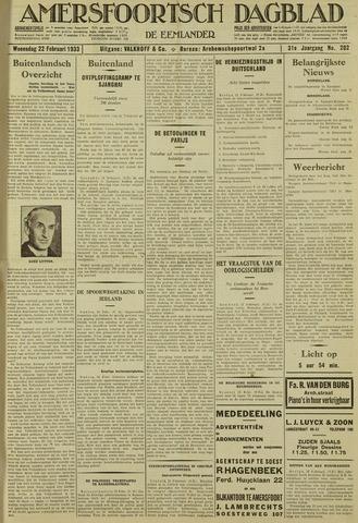 Amersfoortsch Dagblad / De Eemlander 1933-02-22