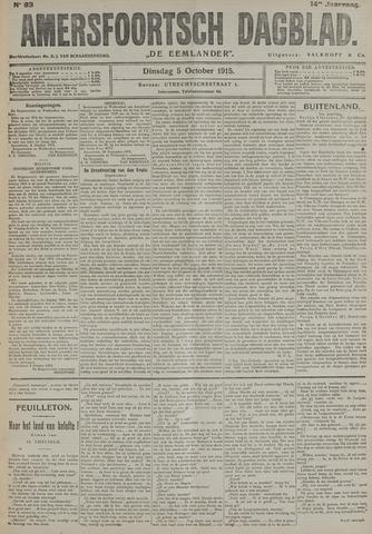 Amersfoortsch Dagblad / De Eemlander 1915-10-05