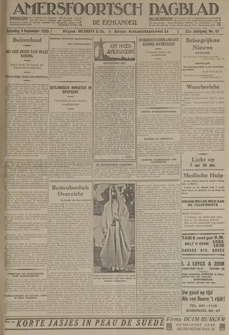 Amersfoortsch Dagblad / De Eemlander 1933-09-09