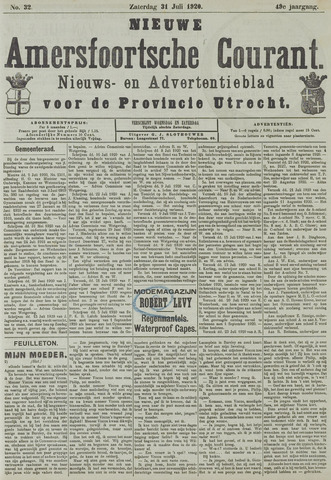 Nieuwe Amersfoortsche Courant 1920-07-31
