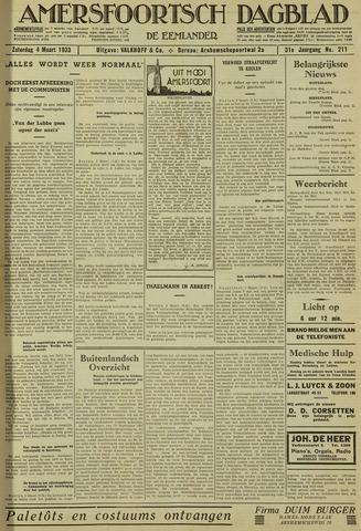Amersfoortsch Dagblad / De Eemlander 1933-03-04