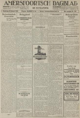 Amersfoortsch Dagblad / De Eemlander 1932-02-25