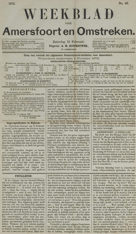 Weekblad voor Amersfoort en Omstreken 1873-02-15