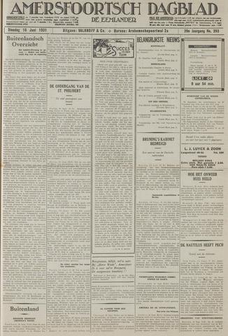 Amersfoortsch Dagblad / De Eemlander 1931-06-16