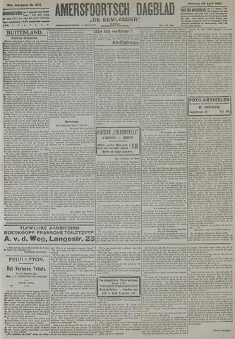 Amersfoortsch Dagblad / De Eemlander 1922-04-25