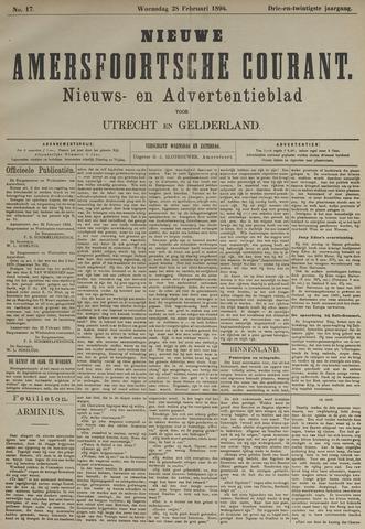 Nieuwe Amersfoortsche Courant 1894-02-28