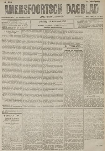 Amersfoortsch Dagblad / De Eemlander 1913-02-25