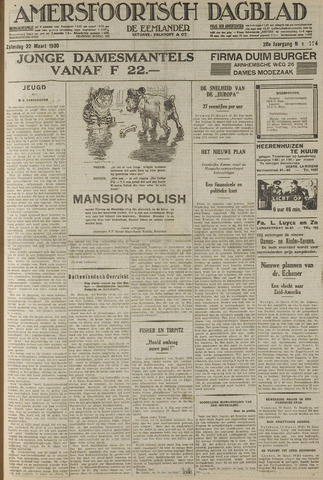 Amersfoortsch Dagblad / De Eemlander 1930-03-22