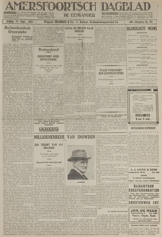 Amersfoortsch Dagblad / De Eemlander 1931-09-11