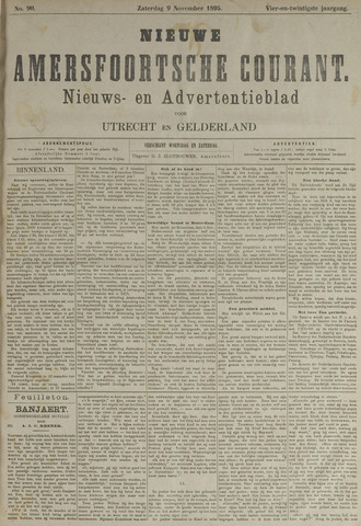 Nieuwe Amersfoortsche Courant 1895-11-09