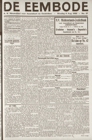 De Eembode 1922-08-08