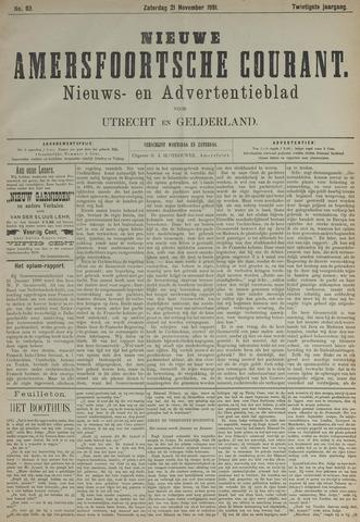 Nieuwe Amersfoortsche Courant 1891-11-21