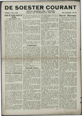 Soester Courant 1945-11-09