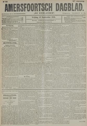 Amersfoortsch Dagblad / De Eemlander 1915-09-10