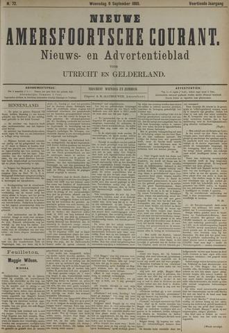 Nieuwe Amersfoortsche Courant 1885-09-09