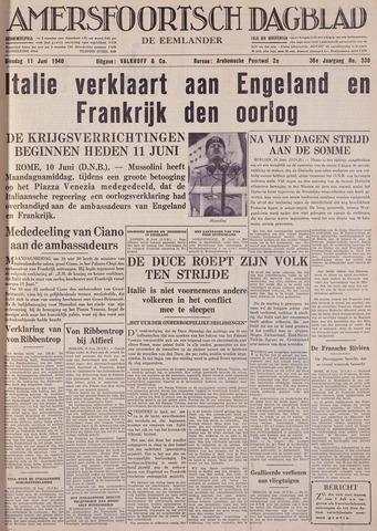 Amersfoortsch Dagblad / De Eemlander 1940-06-11