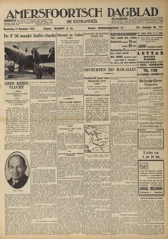 Amersfoortsch Dagblad / De Eemlander 1935-11-14
