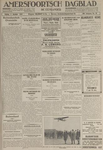 Amersfoortsch Dagblad / De Eemlander 1931-10-02