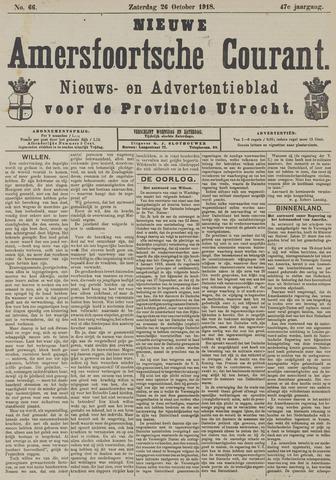 Nieuwe Amersfoortsche Courant 1918-10-26