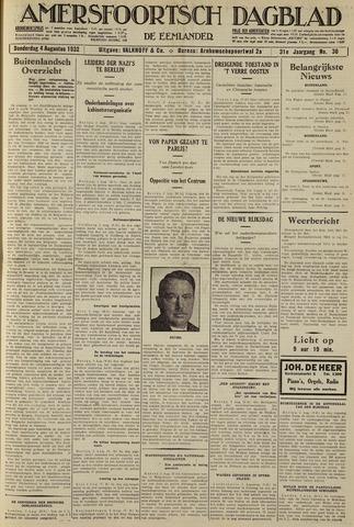 Amersfoortsch Dagblad / De Eemlander 1932-08-04