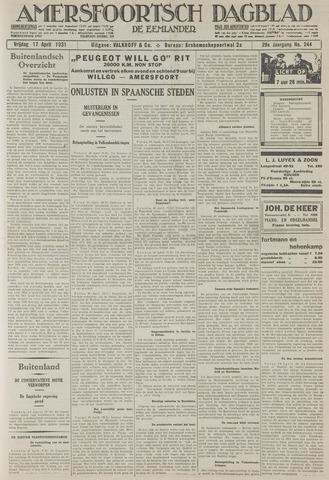 Amersfoortsch Dagblad / De Eemlander 1931-04-17