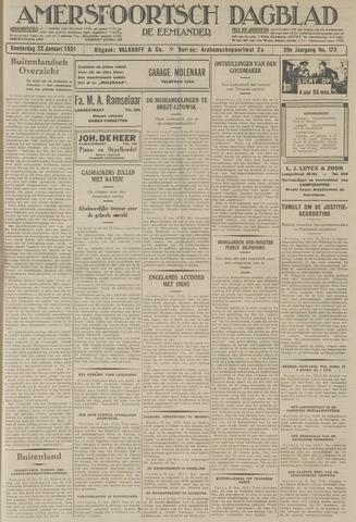 Amersfoortsch Dagblad / De Eemlander 1931-01-22