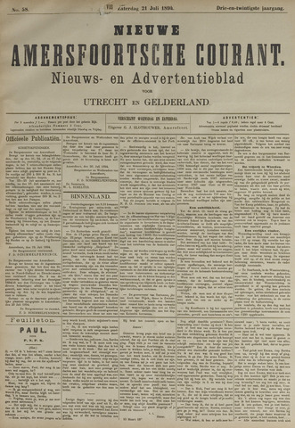 Nieuwe Amersfoortsche Courant 1894-07-21