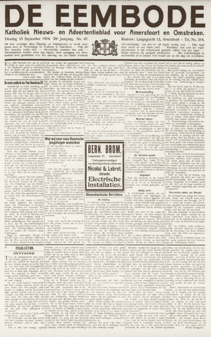 De Eembode 1914-09-15