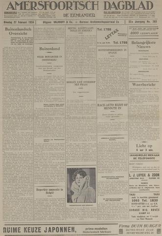 Amersfoortsch Dagblad / De Eemlander 1934-02-27