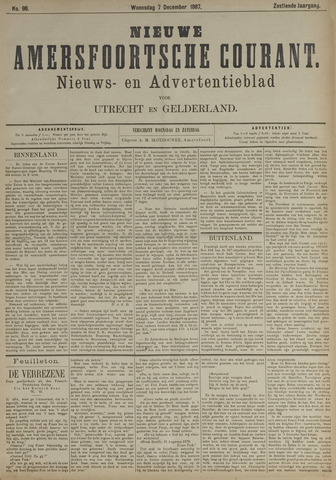 Nieuwe Amersfoortsche Courant 1887-12-07