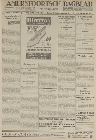 Amersfoortsch Dagblad / De Eemlander 1933-06-23