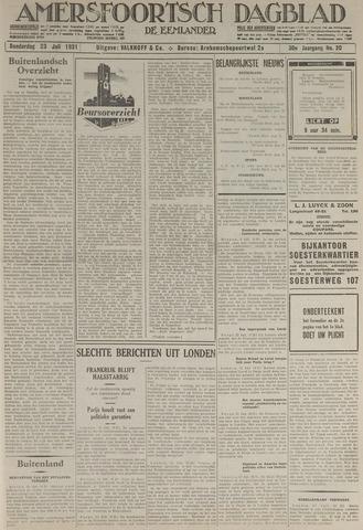 Amersfoortsch Dagblad / De Eemlander 1931-07-23