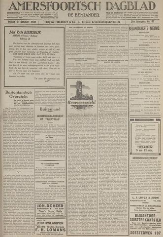 Amersfoortsch Dagblad / De Eemlander 1931-10-09